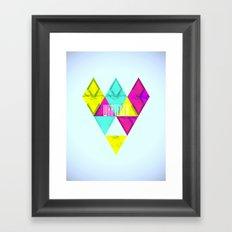 Paper Triangles ▵WHATEVER▵ Framed Art Print