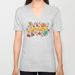 Autumn Is The Time To Stay Cozy Unisex V-Neck