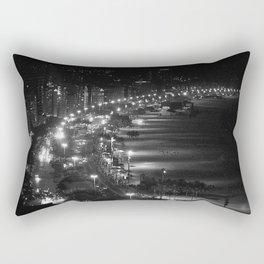 Copacabana beach at night Rectangular Pillow