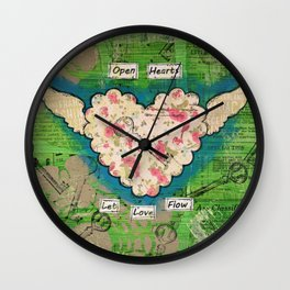 Open Hearts - Let Love Flow Wall Clock