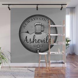 Asheville Beer - Always On Tap - AVL 22 Grunge B&W Wall Mural