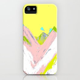 Soft Color Mountain iPhone Case