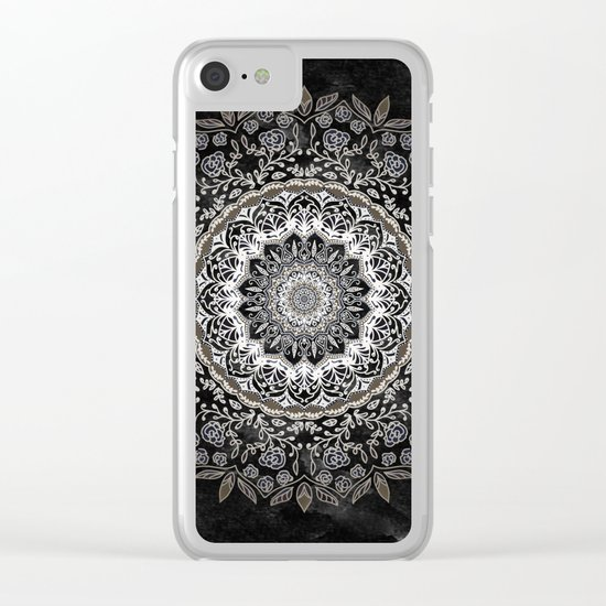 GOLD FLORAL MANDALA Clear iPhone Case