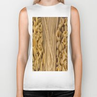 pasta Biker Tanks featuring Different kind of pasta by Joseagon