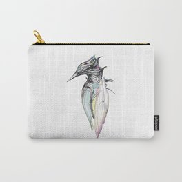 Kingfisher 1h. Full color plus black borders with white background-(Red eyes series) Carry-All Pouch