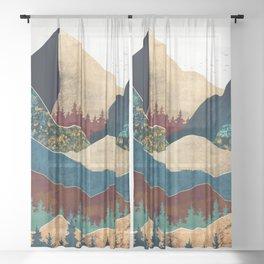Malachite Mountains Sheer Curtain