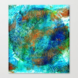 Copper beneath the waves Canvas Print