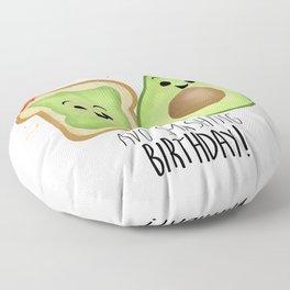 Avo Smashing Birthday - Avocado Toast Floor Pillow