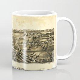 Aerial View of North Billerica, Massachusetts (1887) Coffee Mug