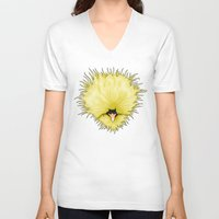chicken V-neck T-shirts featuring Chicken by Compassion Collective
