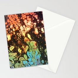 Neon Fire Stationery Cards