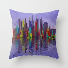 somewhere, where people like colors Throw Pillow