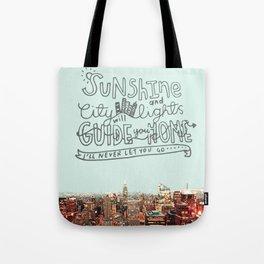 Sunshine and City Lights Tote Bag