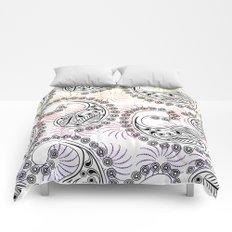 Funky Pinwheel Paisley Design Comforters