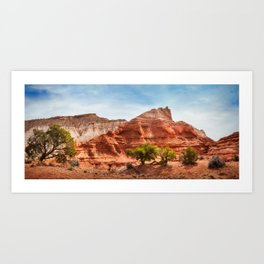 Kodachrome Park colorful desert beauty in spring. Art Print