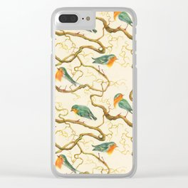 Robin in the Corkscrew Clear iPhone Case