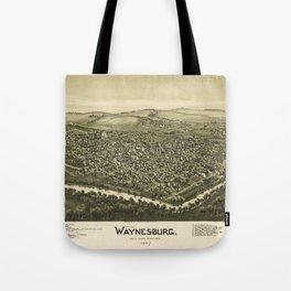 Aerial View of Waynesburg, Pennsylvania (1897) Tote Bag
