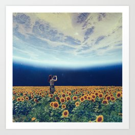 Picture of the world Art Print