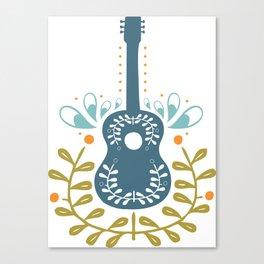 Fancy folk guitar Canvas Print