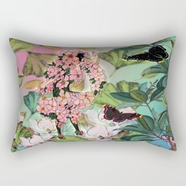 Vintage Flower Fairy Rectangular Pillow