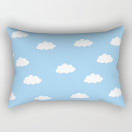 White clouds in blue background Rectangular Pillow