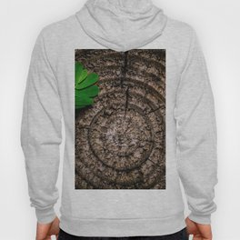 Green leaf Brown wood Hoody