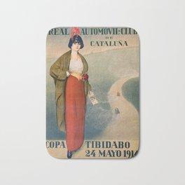 12,000pixel-500dpi - Ramon Casas - Real Automovil-club De Cataluna, Copa Tibidabo Bath Mat