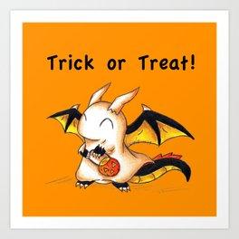 Trick or Treat Dragon Art Print