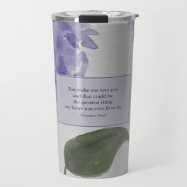 You make me love you...Theodore Finch. All The Bright Places. Travel Mug