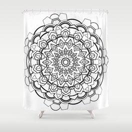 Snow Mandala Shower Curtain