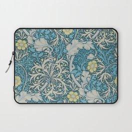 William Morris,art nouveau pattern, seaweed,blue,florals,vintage Laptop Sleeve