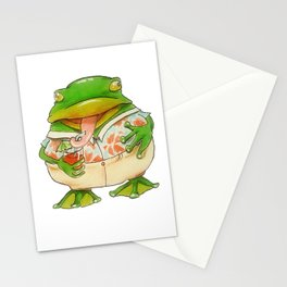 Frog Vacation Stationery Cards