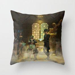 Steampunk Syndicate Throw Pillow