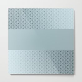 Blue mother of pearl Metal Print