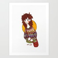 sweater Art Prints featuring Sweater by Jaspers Journal Illustrations