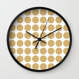 Putty Neutral Dots Wall Clock