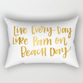 Pam Beesly Print Rectangular Pillow
