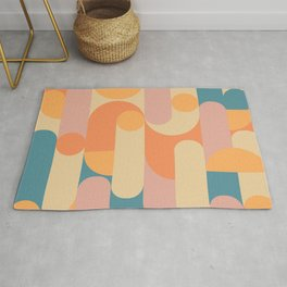 Retro Geometric Pattern Rug