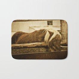 Mini Horse At The  Water Trough  Bath Mat