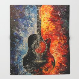 The rhythms of the guitar Throw Blanket