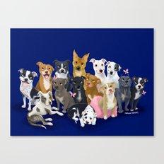 14 Pit Bulls Canvas Print