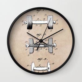 patent art Jowett Dumb Bell 1927 Wall Clock