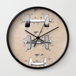 patent art Jowett Dumb Bell 1927 Wall Clock