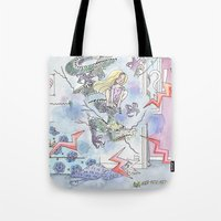 girl power Tote Bags featuring Girl power by Dreamy Me