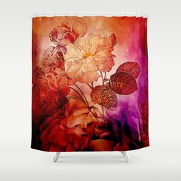 Power flowers, wonderful floral design Shower Curtain