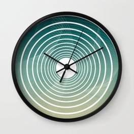 Geometric blue modern abstract Wall Clock