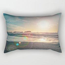 Sunny Day at the Beach  Rectangular Pillow