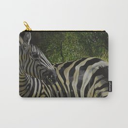 Zebra in the Bush Carry-All Pouch