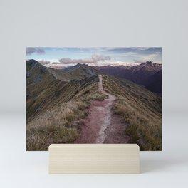 Sunrise along the ridge Mini Art Print