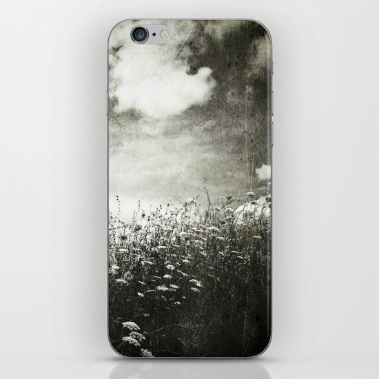 Counting Flowers Like Stars - Black and White iPhone & iPod Skin